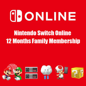 Nintendo Switch Online 12 Months / 1 Year Family Membership, Quick Delivery