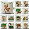 """18"""" Cartoon monkey Cotton Linen Throw Pillow Case Sofa Cushion Cover Home Decor"""