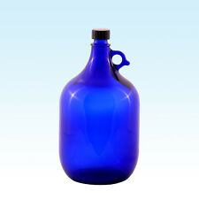 GALLONE 5 litri / glasballonflasche Palloncino di vetro BOTTIGLIA BLU / ACQUA