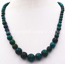 6-14mm Azurite Gemstone Phoenix Stone Roundel Beads Necklac