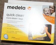 5 Medela Quick Clean Micro-Steam Bags: Breastpump Acc-Bottles-Pacifiers-Reusable