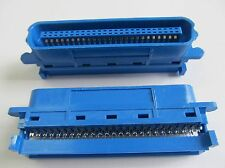 2 Stück Centronics Stecker 50 polig SCSI für Flachband/Ribbon Kabel IEEE-488 2x