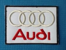 AUDI TT RACING SPORT CAR SOW SEW ON IRON ON CAP WHITE PATCH BADGE