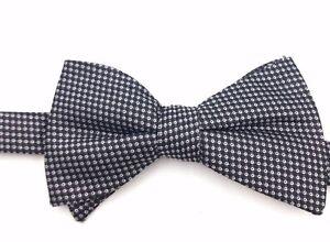 $100 Alfani Mens Casaul Black Gray Polka Dot Bow Tie Classic Adjustable Bowtie
