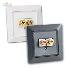 Lautsprecher-Dose weiß/anthrazit unterputz Serie MILOS Lautsprecheranschlussdose