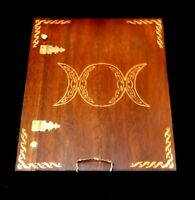 Wooden Handcrafted Triple Goddess Book of Shadows/Journals