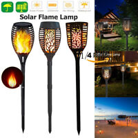 LED Solar Flickering Flame Light Waterproof Outdoor Garden Torch Dancing Lamp