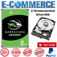 New Seagate BarraCuda 2 TB Internal Hard Drive HDD 3.5 Inch SATA 6Gb/s 7200 RPM