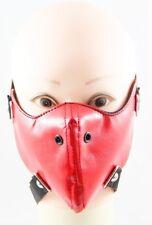 Red Men Lady Punk Spike Half Face Mask Biker Motorcycle Rave Rock Unisex Leather