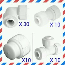 60 pack 22mm Pushfit fittings Hep20 / speedfit compatible elbow/tee/straight/cap