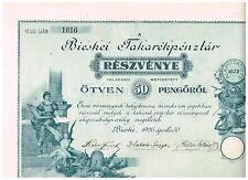 Bieskei Takarekpenzlar (Sparkasse), Bieske 1926, 50 Pengöröl, deco