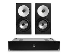 Amphion One18 Passive 2-Way Monitor Speakers (Pair) w/ Amp500 Stereo Amplifier