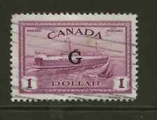 1950-52 CANADA SGO189 $1 Purple with Official G Overprint Fine Used Cat £85