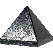 PYRAMID - BLACK TOURMALINE 29-32mm Crystal w/Description & Pouch - Healing Stone