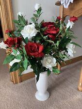 Faux Flowers In Vase - Roses