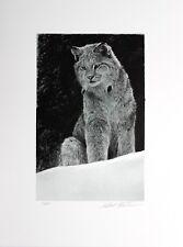Robert Bateman Hand Signed Numbered Limited Snowy Range Canada Lynx 2001