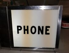 Vintage TELEPHONE BOOTH Pay Phone LIGHT! Mancave, Restaurant, Bar. RARE.(9B)