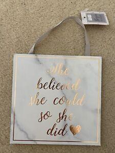 Trinket She Belived She Could And She Did Postivie Hang Decoration Sign