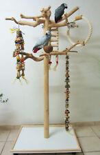 Freisitz für Papageien a. Java Holz, Papageienspielzeug,mittlere-große Papageien