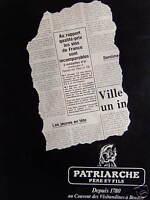 PUBLICITÉ 1981 VINS PATRIARCHE PÈRE ET FILS AU COUVENT DES VISITANDINES A BEAUNE