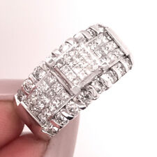 1.20ct Princess & Round Brilliant Cut Diamond Right-Hand Ring in 14k White Gold