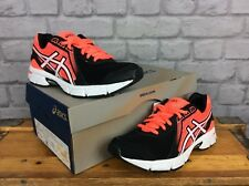 ASICS LADIES UK 4 EU 37 BLACK CORAL GEL IMPRESSION 8 RUNNING TRAINERS DIFF SIZE