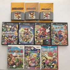 Mario Party 1 2 3 4 5 6 7 8 9 10 Collection Nintendo N64 Wii U DS (with Manuals)