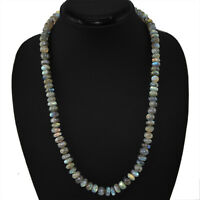 320.00 CTS NATURAL UNTREATED BLUE FLASH LABRADORITE BEADS NECKLACE - ON SALE