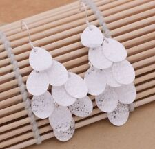 925 Sterling Silver Long Drop Dangle Hook Earrings New Fashion Stunning