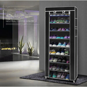 Shelf Storage Closet Organizer Cabinet 10 Layer 9 Grid Shoe Rack Multiples Colo