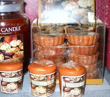 YANKEE CANDLE OATMEAL COOKIE (20) WAX TARTS and 3 VOTIVE CANDLES~IN WRAPPER