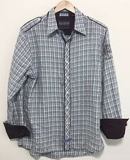 English Laundry Mens Hand Sewn Button Up Dress Shirt 100% Cotton - Size Large L