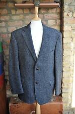 Grey Harris Tweed Blazer Jacket Sports Country Races 44R SAVOY TAYLORS GUILD 176