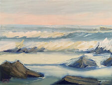 SPRING TIDES TWO Original Expression Seascape Ocean Painting 12x16 031619 KEN