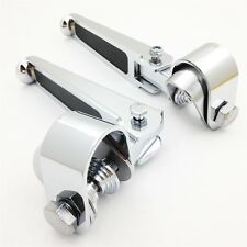 """For Harley Sportster Springer Street Bob 1 1/4"""" CHROME Rubber Inlay Footpegs"""