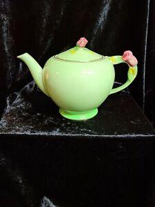 ROYAL WINTON GRIMWADES GREEN ROSE BUD TEAPOT