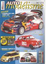 AUTO MODELISME N°175 CITROEN DS3 WRC LOEB 2011 / RENAULT ESPACE F1 / SAAB 96