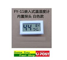 .Digital LCD Thermometer & Humidity Meter combo Aquarium Fridge Freezer FY-11 AU