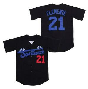 Roberto Clemente #21 Santurce Crabbers Puerto Rico Baseball Jerseys Sewn Black