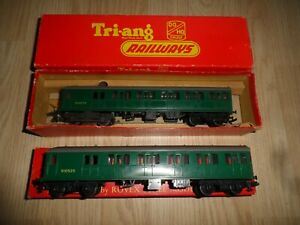 TRIANG MODEL RAILWAYS OO GAUGE 2 CAR SR EMU TRAIN, POWER CAR & DUMMY POWER CAR