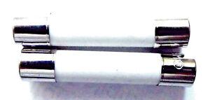 "Fuse 10a 32mm (1.25"") Ceramic F10a 250v /  F10a H 250v HBC Fast Quick Blow x2pcs"