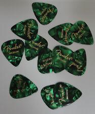 Fender  medium guitar  Picks GREEN MOTO  12 picks