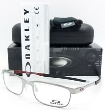 NEW Oakley OX3222 RX Steel Plate Frame Silver OX3222-0754 54mm Metal Rectangle