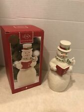 Lenox Holiday Caroling Snowman