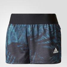 Adidas CF9277 patrón de botánica ejecutar Sport Pantalones Cortos Negro/Verde (M)