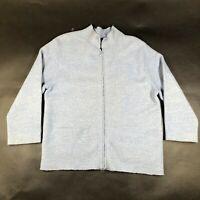 Eileen Fisher Lightweight Jacket Coat Womens S Light Blue Boiled Wool Full Zip