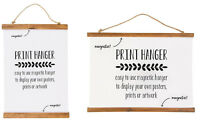 Chic Magnetic Wooden Poster Photo Frame Scroll Print Artwork Hanger DIY Wall Art