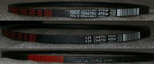 Keilriemen für Rückenspannrolle Profil 13 mm (A) DIN 2215 von 457 mm bis 1800 mm
