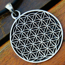 Flower of life Magic Pagan hexagon sacred geometry CROP CIRCLES Pewter Pendant