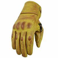 Gants de moto d'été, gants de motard vintage, gants de motard, taille S-2XL